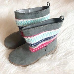 Gymboree 5 Girls Sweater Textile Boots NWOT